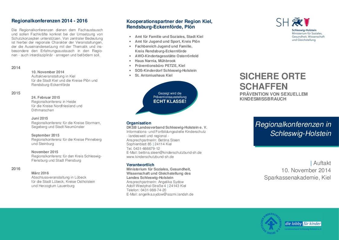 Veranstaltungsankündigung: Regionalkonferenzen in Schleswig-Holstein