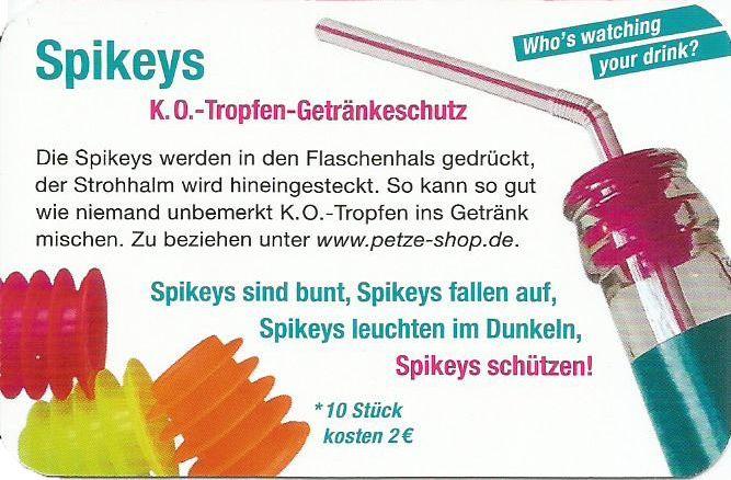 Spikeys K.O.-Tropfen-Getränkeschutz