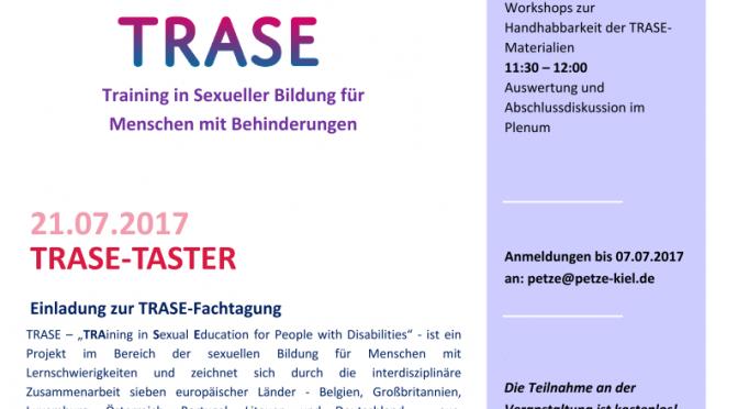 Einladung zur TRASE-Fachtagung am 21.07.2017 Kiel