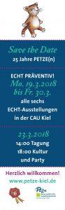 Am 23. März 2018 feiert die PETZE ihr 25. Jubiläum an der CAU Kiel