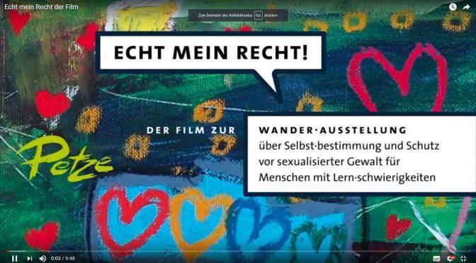 Film über die Ausstellung ECHT MEIN RECHT!
