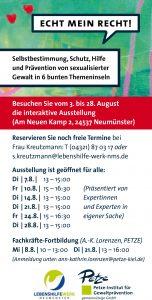 Die interaktive Wanderausstellung ist in Neumünster geöffnet für alle vom 3. bis 28. August