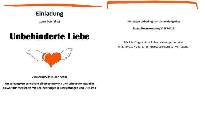 Fachtag Unbehinderte Liebe am 6. Juni 2019 in Kiel