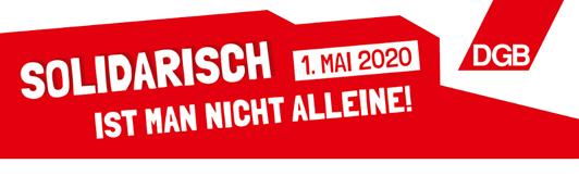 DGB-Livestream: Solidarisch ist man nicht alleine! 1. Mai 2020 - Tag der Arbeit